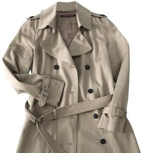 Beautiful Like New Belted Trench Coat